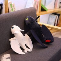 Wholesale kids toy for night resale online - 2pcs cm Movie Doll How To Train Your Dragon Toothless Dragon Toy Night Fury Light Fury Plush Toy Stuffed Anime Doll for Kids