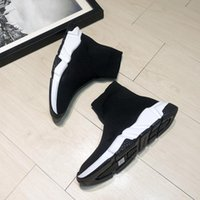 qualität herren socken großhandel-New Mens Designer Shoes Paris Berühmte Designer-Turnschuhe mit weißer Laufsohle Hochwertige Designer-Sockenschuhe für Damen in den Größen 35-45