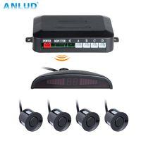 Wholesale wireless car alarm systems resale online - ANLUD Car Auto Parktronic LED Wireless Parking Sensor Kit Sensors Reverse Assistance Backup Parking Alarm Radar Monitor System