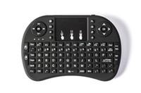 claviers rechargeables achat en gros de-50 pcs Rii I8 Mini Clavier Air Mouse 2.4G Sans Fil Rechargeable batterie lithium-ion Télécommande pour Android TV BOX X96 TX3 mini