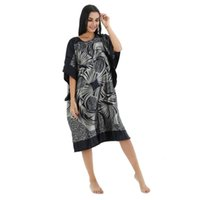 ingrosso rayon per le donne-Camicia da notte da donna Rayon Sleepwear Robe Lady Sexy Home Dress Large Allentato Bing Sleeve Clothing Lounge