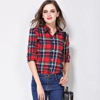 f9391f04 Wholesale yellow black plaid flannel shirt for sale - Group buy Women Shirt  Blouses Plus Size