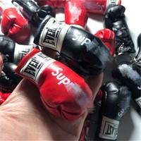 chave em forma de caixa venda por atacado-Luvas de boxe Forma Keychain com Logotipo SUP Moda Chave Do Carro Chaveiro Marca Tide Acessórios Saco Da Chave Do Anel