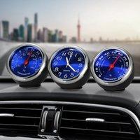 thermometer-uhren für auto großhandel-Auto Ornament Automotive Uhr Auto Uhr Thermometer Hygrometer Home Automobile Innendekoration Uhr In Autozubehör