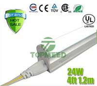 x25 al por mayor-CE UL integrada de 1,2 m 4 pies T5 22W llevó el tubo 96Leds luz 2400LM de iluminación LED de reemplazo de la lámpara fluorescente Tubos luces + Garantía 3Years X25