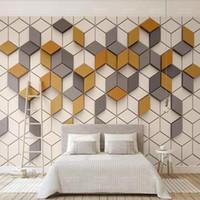 gráficos de pared modernos al por mayor-3d papel tapiz moderno moderno Nordic papel tapiz geométrico TV fondo de la pared Mosaico mural gráfico video pared
