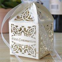 ingrosso scatola del bambino di battesimo-Scatole di caramelle da 50 pezzi Regalo per baby shower Battesimo Compleanno Prima comunione Decorazione per battesimo Miglior regalo per gli ospiti
