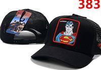 batman hat snapback venda por atacado-Venda quente Dos Homens Das Mulheres Designer de Verão Muitos Estilo adulto Dos Desenhos Animados Snapback Malha Superman Batman Homem-Aranha Boné de Beisebol Hip-Hop Chapéu Cap Ao Ar Livre