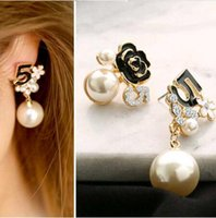 Wholesale clothes studs resale online - Fashion Flowers Number Stud Earrings Gold Color Earrings New Jewelry Joker Women Clothing Accessories Brincos