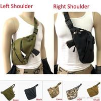omuz çantaları toptan satış-Taktik Çok Fonksiyonlu Gizli Saklama Tabancası Çantası Kılıf Sol Sağ Omuz Çantaları Anti-hırsızlık Çanta Göğüs Çantası Avcılık için