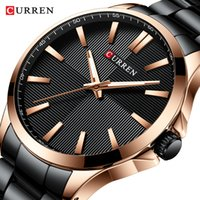вахта стали curren оптовых-CURREN Watches Men Fashion Watch 2019  Stainless Steel Band Reloj Wristwatch Business Clock Waterproof Relogio Masculino