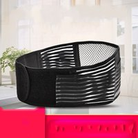Wholesale heating waist support resale online - Keep Warm Protection Belt Magnetic Therapy Self Heating Waistband Lumbar Muscle Strain Waist Support Breathable Black kf C1