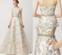 Wholesale sheath column crystal prom resale online - 2019 Great Gatsby Vintage Luxury crystal A Line Evening Dresses Wear lace applique yousef aljasmi Sweetheart arabic Prom Formal Gowns