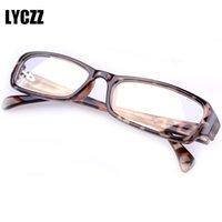 усталостные очки оптовых-LYCZZ Квадратная Мода Печати Радиационной Усталости Защитные Очки Очки Кадр Компьютерные Очки украшения оптические очки