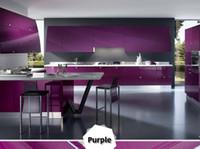 ingrosso rotolo decorativo di carta da parati-Rotolo di carta da parati autoadesiva pellicola decorativa impermeabile 3M / 5M / 10M vernice rosa per adesivi per mobili da cucina in PVC
