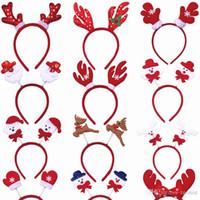 clips adultes achat en gros de-jouet de Noël bandeau Cartoon vieux bois de bonhomme de neige homme Pincer les cheveux lumineux jouets pour enfants adultes de gros