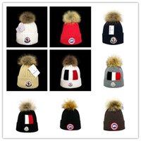 beanie de snowboard venda por atacado-mais novo Inverno Caps unissex marca Canada CA homens moda chapéu de malha crânio esportes clássicos tampões homem casual ao ar livre Feminino gorros Mulheres ganso