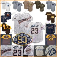 eric hosmer großhandel-San Diego Custom Padres Trikot Fernando Tatis Jr. Manny Machado Eric Hosmer Jäger Renfroe Chris Paddack Tony Gwynn Hoffman Carl Edwards Jr.