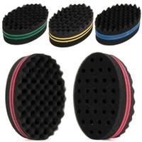 Wholesale hair twisting tool sponge for sale - Group buy 1Pcs Oval Double Sides Afro Wave Magic Hair Twist Braiders Dreads Twisting Locks Dreadlocks Curl Brush Sponge Tools