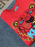 свитера с горячей шерстью оптовых-Горячая известный бренд KZ Мужчины Женщины Embroidere тигр логотип свитер спортивные костюмы перемычка куртка Женская одежда