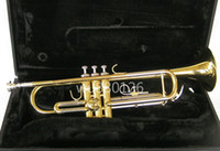 Wholesale tune case resale online - JUPITER JTR700 Brass Bb Tune New Arrival Trumpet Gold Lacquer High Quality Musical Instrument with Case Mouthpiece
