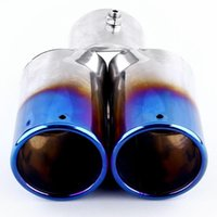silenciadores de tubos de escape universais venda por atacado-Tubo de cauda de aço universal do escapamento do veículo do carro do tubo da cauda