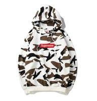 ingrosso latte latte-Felpe di marca uomo donna hip hop inverno con cappuccio plus velluto caldo con cappuccio pullover streetwear latte camouflage felpe