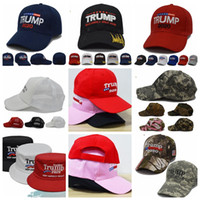 Wholesale snapback for sale - Trump hat Outdoor President Trump Baseball Cap USA American Flag Adjustable Snapback Trucker Hat LJJK1514