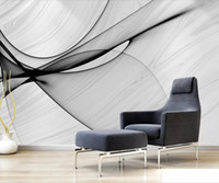 mural de pared blanco negro fondo de pantalla al por mayor-Abstract Marble Wallpaper Black White Mural Wall Art 3D Papel de pared Dormitorio Restaurante Murales Papel de contacto Papel De Parede 3D