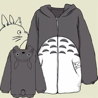 nachbar totoro kostüm großhandel-Mein Nachbar Totoro Hoodie Cosplay Totoro Kostüm Anime Sweatshirts Jacke