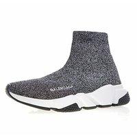 mavi çizmeler toptan satış-2019 Tasarımcı Hız Eğitmeni Erkek Kadın Yüksek Çorap Ayakkabı Siyah Mavi Kırmızı Katı moda Çizmeler Eğitmenler Koşucu Yürüyüş sneakers