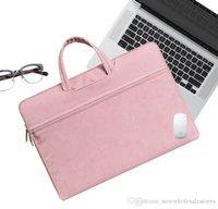 leder laptop taschen für frauen großhandel-UK Großhandel Leder Frauen Laptop Tasche Notebook Tragetasche Aktentasche für Macbook Air 11 13,3 14 15,6 Zoll Männer Handtaschen Tasche