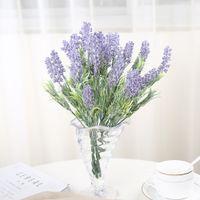 Wholesale romantic spring for sale - Group buy Spring Home Decor Romantic Lavender Flower Silk Artificial Flowers Grain Decorative Heads cm Length Vivid Leaf Fake Flower
