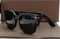 солнцезащитные очки большие для мужчин оптовых-Роскошный топ большой качества Новая мода 211 Tom Солнцезащитные очки для мужчин и женщин Erika Eyewear ford Дизайнерский бренд Солнцезащитные очки с или том