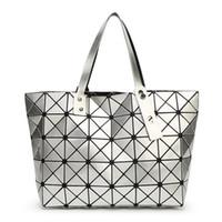 Wholesale ladies handbag mirrors resale online - Yutuo Women Bag Ladies Geometric Sequins Mirror Saser Plain Folding Handbag Mujer Mosaic Shoulder Bags Top Handle Tote J190518