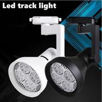 focos modernos al por mayor-LED Track Lights 35WCOB Modern Rail aplique de pared Techo Ropa comercial Zapatos Tienda Tienda Lampada LED Spot Lamp Spotlights