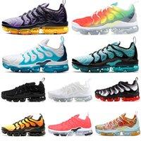 multi jogos grátis venda por atacado-Nike Air Vapormax Tn Plus tns Mens Womens Running Shoes Triplo Preto Branco Azul Jogo Real Volt EUA Designer Trainers Sports Sneaker Frete Grátis