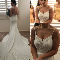 Wholesale maternity court wedding dress online - 2019 Long Sexy Mermaid Wedding Dresses Sleeveless Bridal Gowns Vestidos De Novia Romantic Court Wedding Dresses