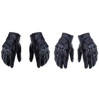 Wholesale motorbike protective gear for sale - Group buy 1 Pair Retro Leather Motorcycle Motocross Gloves Touch Screen Full Finger Protective Gears Motorbike Gloves