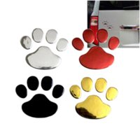 Wholesale cool vinyl car for sale - Car Sticker Cool Design Paw D Animal Dog Cat Bear Foot Prints Footprint M Decal Car Stickers Silver Gold Red