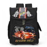 рюкзаки для птиц оптовых-Russia Style Racing Cars Children School Bags for Boys Backpacks Nylon Orthopedic Backpacks Girls Cartoon Owl Bird Kids Knapsack