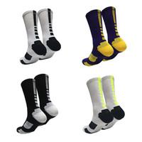 basketbol tarzı moda toptan satış-23 Stiller Elite Basketbol Çorap Uzun Diz Atletik Spor Çorap Genç Erkek Moda Sıkıştırma Termal Kış Havlu Çorap M841