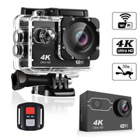 Wholesale waterproof 360 camera resale online - Ultra HD K fps Action Camera m waterproof quot Screen P MP Remote Control Sport Wifi Camera extreme HD Helmet Camcorder car Cam