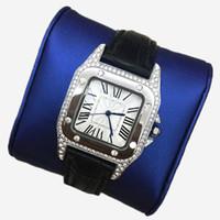 reloj multi color mujer al por mayor-Nueva moda mujer relojes de acero inoxidable de múltiples colores de lujo diamantes vestido reloj señora reloj de pulsera pequeños ojos de cristal informal envío gratis