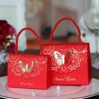 ingrosso carte a forma di farfalla-10pcs contenitore di caramella sacchetto di cioccolato regalo di carta per il compleanno festa di nozze favore forniture borsa a mano farfalla forma nuovo L1106