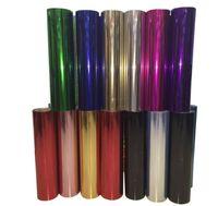 vinil kesiciler çizicileri toptan satış-Holografik Isı Transferi Vinil Rulo Pullu glitter Craft Vinil El Sanatları Kesiciler için, stok Plotters
