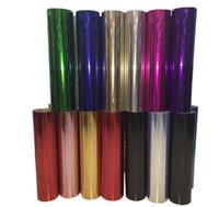 ingrosso realizzazione di vinile-Scambio di calore olografico Rotolo di vinile Paillettes glitter Vinile artigianale per taglierine artigianali, Cartelle segnapunti in stock