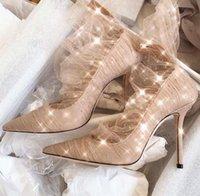 zipper back shoes venda por atacado-Novos sapatos femininos para o início da primavera de 2019 lantejoulas de malha de alta salto stiletto back zipper apontou sapatos senhoras único apontou sexy sonho sapatos