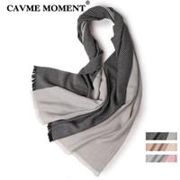 7022af9bb1cad6 rosa grauer schal großhandel-CAVME 2019 Wollschal Fashion Striped Schals  Damen Herren Woolen Wraps Schals