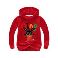 ingrosso giacca coniglio dei ragazzi-2-14Years Boys Hoodies Coat 2019 British Girls Hooded Spring Jacket maniche lunghe Bing Rabbit Causali Outwear